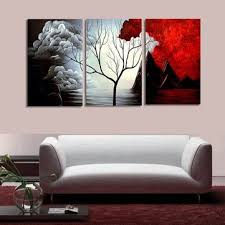 <b>3 pcs</b> tree modern abstract landscape canvas painting <b>print</b> picture ...