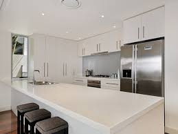 cabinets contemporary galley designs lights modern white color themed galley kitchen design white glossy wooden ki