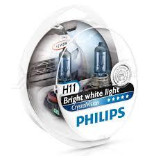 Галогенные <b>лампы</b> Philips (<b>Филипс</b>) <b>Crystal</b> Vision H11 4300K (2 ...
