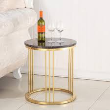 BAOMEI <b>Coffee Table Round Coffee Table</b> With <b>Marble Look</b> ...
