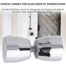 Shower Door Handle Knob Chrome Plated Cone Shaped <b>Elegant</b> ...