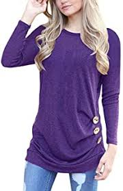 Purples - T-Shirts / Tops, Tees & Blouses: Clothing ... - Amazon.com