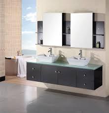 element contemporary bathroom vanity set: portland  double sink wall mount vanity set in espresso design element