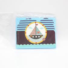 New <b>6pc</b>/set <b>Invitation card</b> cartoon theme nautical boat theme ...
