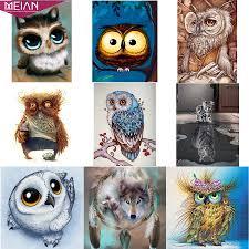 Meian,Full,5D <b>DIY Diamond Painting Animal</b>,Diamond Embroidery ...