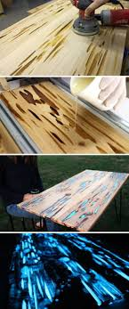 dining table woodworkers: awesome table woodworking projects and ideas diy glowing table by diy ready at http