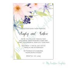 eden flower wedding invitation template