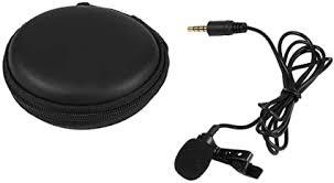 Portable Clip-on Lapel Lavalier Microphone <b>3.5mm Jack Hands</b>-<b>free</b> ...