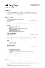 ticketing agent and travel consultant resume samples junior travel consultant resume