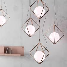 <b>Nordic Glass Ball Pendant</b> Light Fixture For Living Room Decorative ...