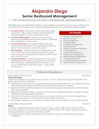 professional resume samples by julie walraven cmrw senior restaurant manager resume sample