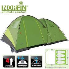 <b>Палатка кемпинговая 4-х местная</b> Norfin POLLAN 4 NF