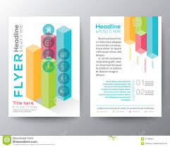 isometric shape design brochure flyer layout vector template stock isometric shape design brochure flyer layout vector template