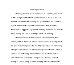 book report   the hunger games  by suzanne collins  is a    document image preview
