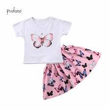 Toddler Girls <b>Baby Kids Cartoon</b> Top Shirt Dress Summer Outfits ...