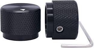 Taiss/ <b>2pcs</b> Black Aluminum <b>Rotary</b> Electronic Control <b>Potentiometer</b>