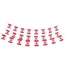 <b>10m</b> Canadian Country Flag String Bunting Banner Garland Outdoor ...