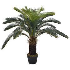 Shop vidaXL <b>Artificial Plant Cycas Palm</b> with Pot Green 35.4 ...