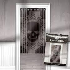 <b>Skull Lace</b> Door Curtain | Door curtains, Vintage kitchen curtains ...