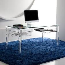 lawrence desk this classy rendition of a traditional desk brings sophistication to any environment additional features such as the glass top and keyboard acrylic glass desks