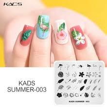 Пластины для стемпинга KADS, летние шаблоны для стемпинга ...