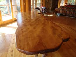 dining room table plans shiny:  finished pine dining room table rustic sets shiny brown eased edge profile marble top minmalist wooden