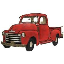 metal wall decor shop hobby: red truck metal wall decoration shop hobby lobby