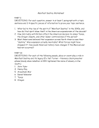 manifest destiny worksheet delibertad manifest destiny worksheet grimmbr