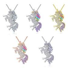U Angela Unicorn Crystal Rainbow Necklace Unicorn ... - Amazon.com