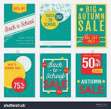 back to school and autumn discount banners templates of back to school and autumn discount banners templates of advertising flyers for the seasonal s