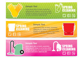 cleaning service vector art 2430 s spring cleaning banners