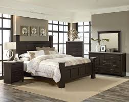 elegant bedroom dark brown furniture white wall color adding cabinet with lamp shades also big bed bedroom dark furniture