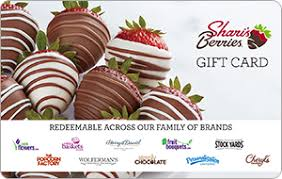 Buy Shari's Berries Gift Cards   Receive up to 7.50% Cash Back