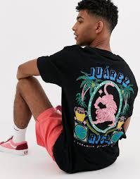 Oversize-футболка с принтом <b>тропиков</b> и <b>тигра</b> Crooked Tongues ...