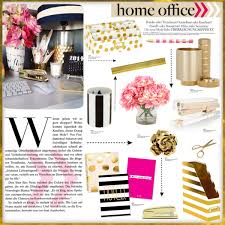 a home decor collage from july 2015 featuring inc international concepts gold office accessories and chic home office