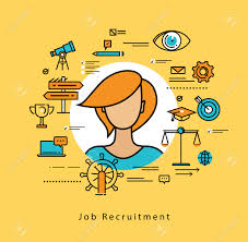 career assessment stock photos images royalty career career assessment line flat vector business design for job candidate evaluation interviewing assessment