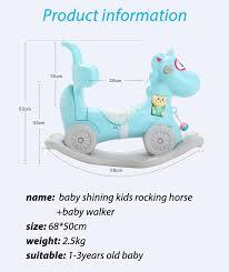 <b>Baby Shining Rocking</b> Horse Baby Walker Trojan Child Rocking ...