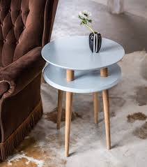 UFO <b>Side Table</b> diam. <b>45cm</b> x H 61cm - Light grey | Ragaba.pl