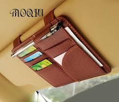 MOQIU High Quality Microfiber PU leather <b>Car Sun Visor</b> Glasses ...