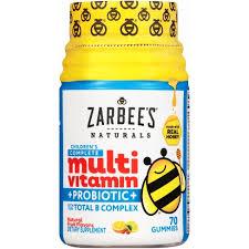Zarbee's Naturals Children's <b>Complete Multivitamin</b> + Probiotic ...