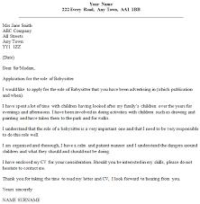 babysitter cover letter example cover letter for babysitting job