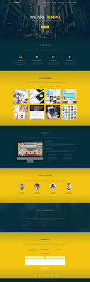 tempo one page creative template templategarden one page creative template