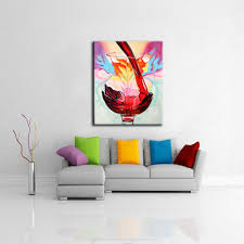 room modern camille glass: glass wall art anstract unframed oil painting hand canvas painting wine font b glass b font cuadros font b