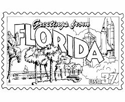 Small Picture USA Printables Florida State Stamp US States Coloring Pages