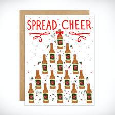 Holiday Card. Holiday Spirit. Spread <b>Cheer</b>. Beer. <b>Cheers</b>. <b>New</b> | Etsy