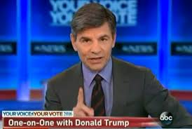 Image result for george stephanopoulos megyn kelly mad at trump pics