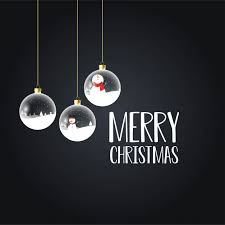 <b>Merry christmas</b> card with <b>creative design</b> Vector   Free Download