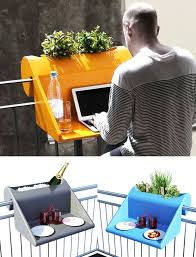 balcony hung planter doubles as your worktable balcony furnished small foldable