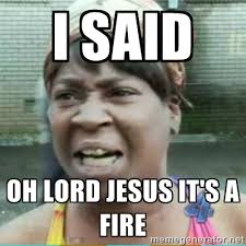 i said oh lord jesus it's a fire - Sweet Brown Meme | Meme Generator via Relatably.com