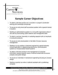 example career objectives for resumes  printable biodata form example career objectives for resumes sample resume objectives career rush